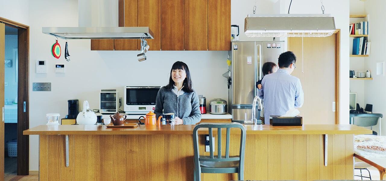 家族がつながる、キッチンと中庭のあるお家 杉並区 注文住宅 完成見学会